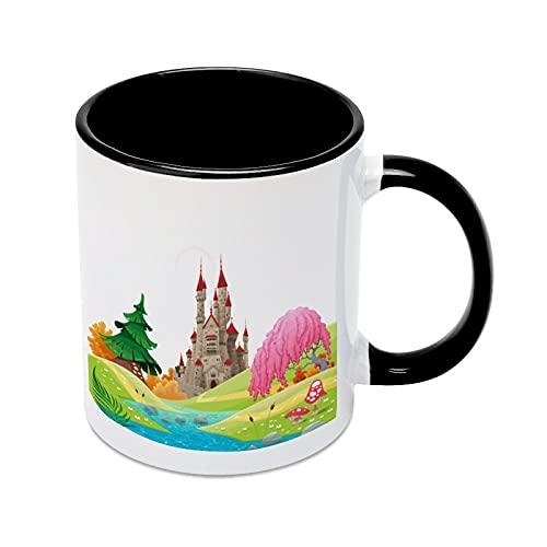 Taza de cerámica personalizada para taza de té y café de 330 ml con interior colorido y asa personalizada Beautiful Anime Mag