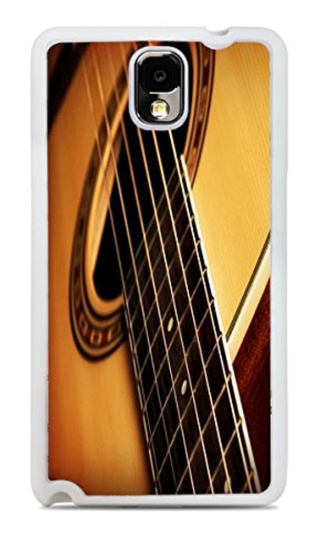 Acoustic Guitar White Silicone Case for Galaxy Note 3