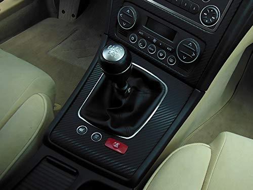 Cubierta De Acero para Alfa_Romeo 159 & BRERA & SPIDER (939) - 1 Pieza Palanca de Cambios Placa Interior Decoración Inox Metal Cepillado Personalizados Hechos a Medida Tuning