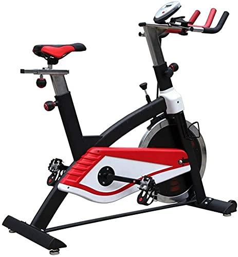Qjkmgd Dispositivo de entrenamiento de bicicletas, ejercicio interior Bicicleta LCD Pantalla Ajustable Asiento y manillar Bicicleta giratoria de resistencia ajustable para ejercicios aeróbicos en inte