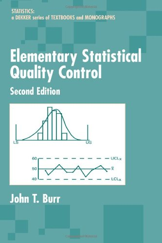Elementary Statistical Quality Control (Statistics: A Series of Textbooks and Monographs)