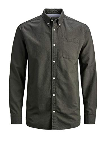JACK & JONES Herren Hemd Klassisches MDeep Depths