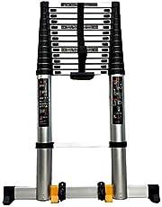Telescopische Ladder Draagbare uitschuifladder met wielen, 5 m / 5,4 m / 6,2 m / 7 m / 8 m hoge telescopische ladders, Antislip voor daken van trappen (Size : 8m/26ft)