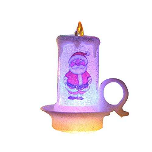 PINH-lang LED Kerzen,12er Weihnachtsdekoration Nachtkerzenlicht LED-elektronische Kerze Schneemann Licht