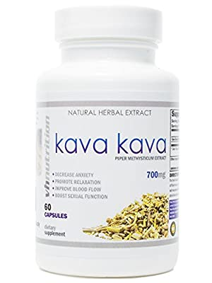 Kava Kava | 700mg Capsules | Stress Relief and Anxiety Supplement | Mental Calmness, Positive Mood | Piper Methysticum Extract | 30 Day Supply | 60 Capsules by Vh Nutrition