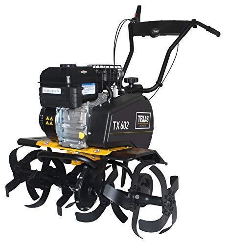 TEXAS TX 602B Benzin Motorhacke Bodenhacke Gartenhacke (4,5 kW, Arbeitsbreite 35-85 cm, 110 U/min)
