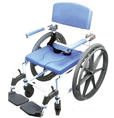 Shower Wheelchair Bath Toilet Rehab Commode Bariatric 20' Wide Seat with 24' Wheels