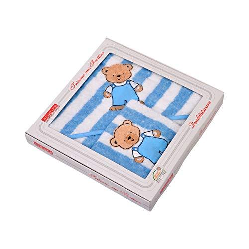 Wörner Textil-Badeset Frottee (2-TLG.) – Geschenkset mit Badetuch und Waschlappen – kindgerechtes Design