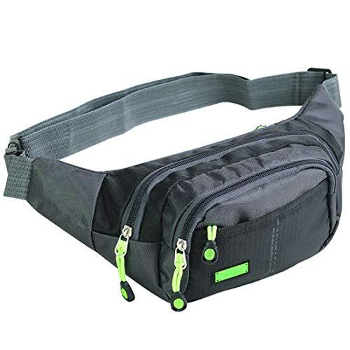 Bauchtasche für Damen und Herren, Gürteltasche,Hüfttaschen, Handytasche Tasche Fitness Fahrrad Reise Wandern