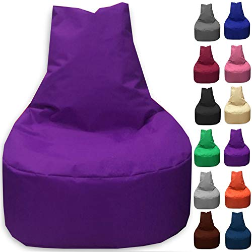 Sitzbag Sitzsack Sessel XL - XXL für Kinder und Erwachsene - In & Outdoor Sitzsäcke Kissen Sofa Hocker Sitzkissen Bodenkissen (XL - 68cm Durchmesser, Lila)