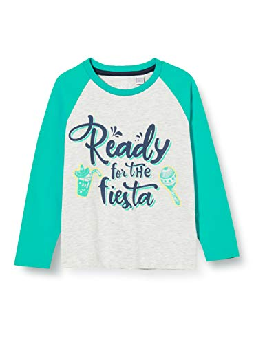 Chicco Baby-Jungen T-Shirt Manica Lunga Bimbo Pullunder, Grün (Verde Grigio 091), 104
