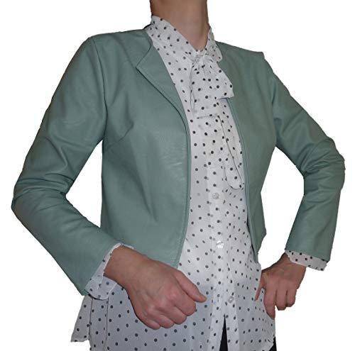 Bolero elegante para ceremonias de piel sintética de mujer y niña, de colores, casual, simple Verde Tiffany 42