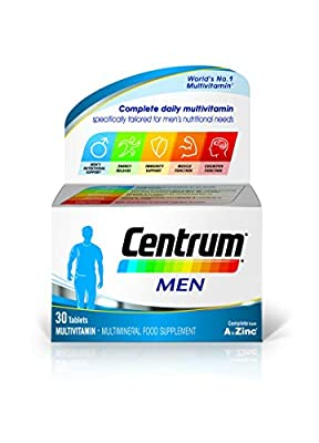 Centrum Men Multivitamins and Minerals tablet, 30 tablets (1 month supply), 24 essential nutrients Vitamins and Minerals tailored for men under 50, Vitamin D, Complete from A - Zinc