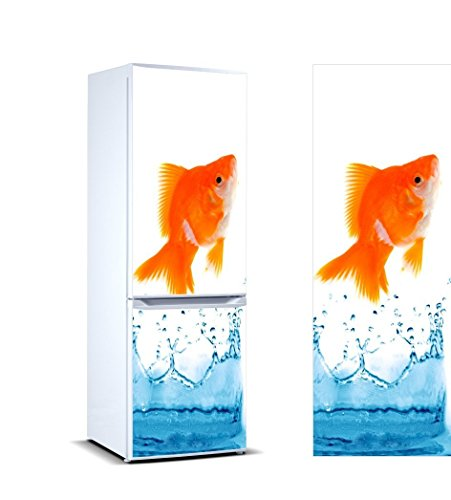 Oedim Stickers Autocollants Frigo Poisson en sautant Hors d'eau Mesure 185 x 70 cm | Vinyle Adhésif Résistant et Facile d'appliquer | Étiquette Adhésive Décorative d'une Conception élégante |