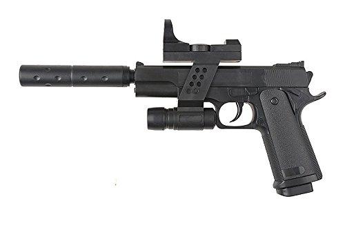 Pistola airsoft bola 6mm- P.053A Galaxy-G.053A- 0.5 Julios- Color negro