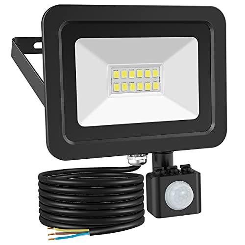 Motion Sensor Security Lights Outdoor, LOFTer 10W 800lumen Super Bright PIR...
