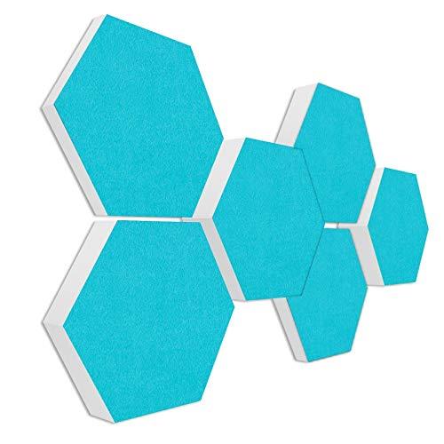 Schallabsorber 3D-Set aus Basotect G+ < 6 Elemente Ø30cm > Diverse Farben (TÜRKIS)