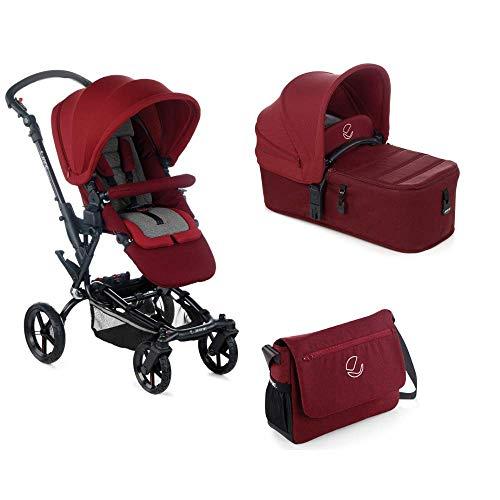 Jané Epic - Cochecito de bebe 2 piezas, capazo plegable y silla de paseo, con bolso y plástico de lluvia, plegado compacto, freno de mano, hamaca reversible, unisex