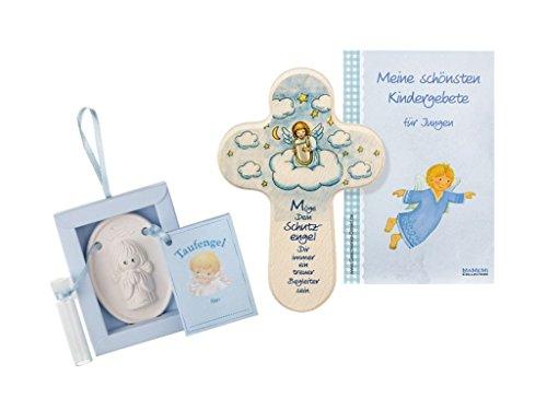 Tauf- Geschenkset - Taufengel mit Taufkreuz für Jungen