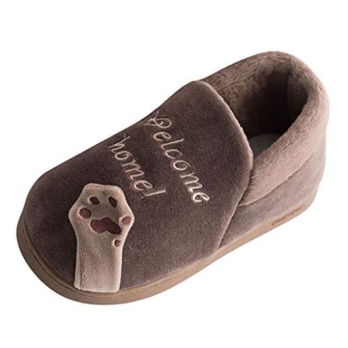 Alwayswin Unisex Erwachsene und Kinder Winter Hausschuhe Plüsch Warm Pantoffeln Slipper rutschfest Bequeme Baumwolle Hausschuhe Indoor Schlafzimmer Hausschuhe Warme Schuhe Boden Schuhe