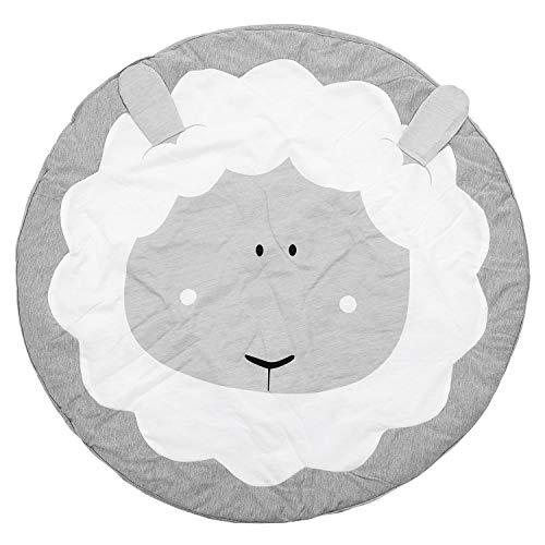REFURBISHHOUSE 95CM Kinder Spiel Spiel Matten Runde Teppich Teppiche Matte Baumwolle Krabbeln Decke Boden Teppich Fuer Kinderzimmer Dekoration INS Baby Geschenke Schafe