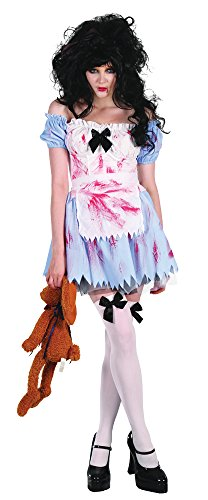 Bristol Novelty AC283 Costume Zombie Fille, Blanc, UK Size 10-14