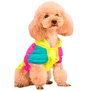 MaruPet Doggie Shirts Summer Hawaii Style Sun Protection Lightweight Pet Air Conditioning Clothes Dog Sunscreen T-Shirt