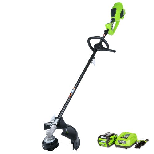 Greenworks 40V 14inch Cordless String Trimmer (Attachment Capable), 4.0 AH Battery Included 21362