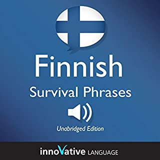 Learn Finnish: Finnish Survival Phrases: Lessons 1-50 audiobook cover art