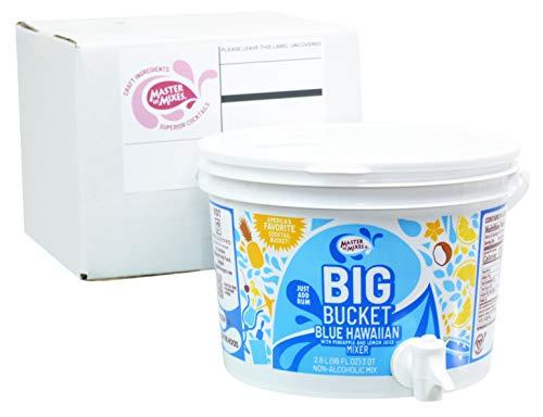 Master of Mixes Blue Hawaiian Mix, Ready to Use, 96 oz Low-Profile BigBucket, Individually Boxed