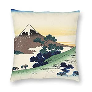 Hokusai Mount Fuji Japan Pillowcase Landscape Ink Pillow Cover Pillow Case Square Cushion Cover Standard Home Decorative…
