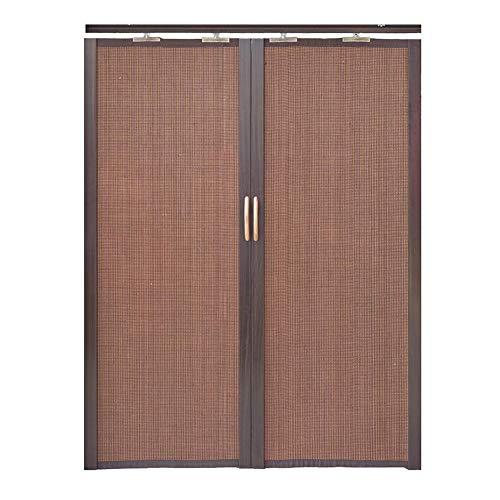 Jcnfa-Persianas Cortina De Bambú Puerta Corredera Plegable Doble Izquierda Y Derecha Cortina De Particion Cocina Dormitorio Balcón Sombrilla. Alta Tasa De Sombreado