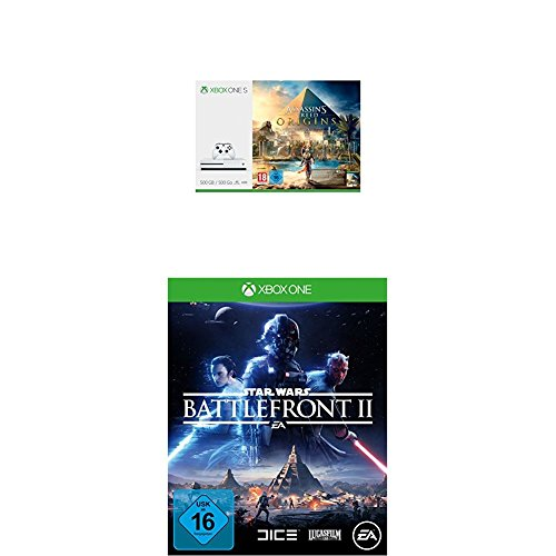 Xbox One S 500GB Konsole - Assassin's Creed Origins Bundle + Star Wars Battlefront II