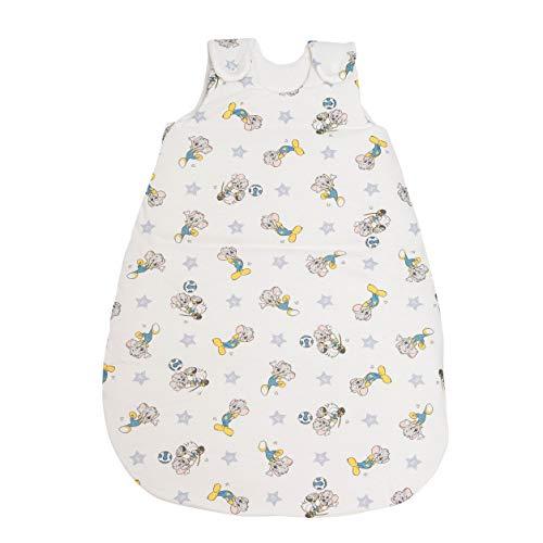 Babyschlafsack ED | ganzjahres Schlafsack schadstoffgeprüft & pflegeleicht | einzigartiges Design | Schlummersack aus 100% Baumwolle | versch. Größen & Farben (Sterne weiß, 62/68)