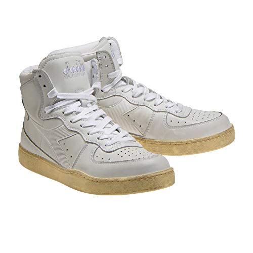 Diadora Heritage Schuh-Sneaker-Unisex-MI-Basketball-Used Weiß - 42