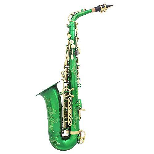 BLKykll Student Professional E Flat Alto Saxofoon Professionele Alto Saxofoon, met Case, Rietjes, Mondstuk, Zachte Reinigingsdoek en staaf, Handschoenen