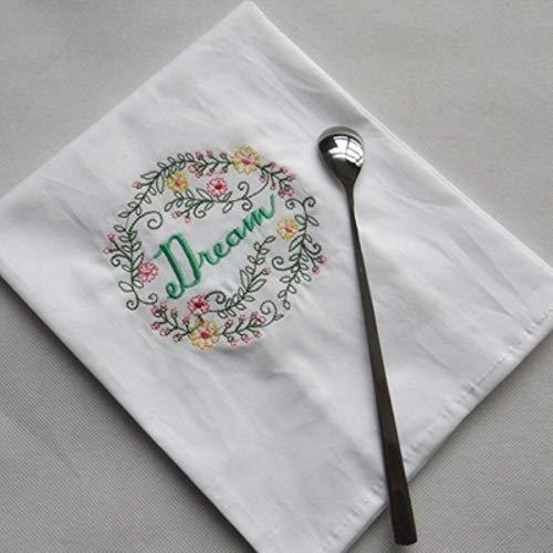 Fijnere 45 * 70cm servetwijnglas handdoek huisstof Geborduurd servet, 6 45x70cm