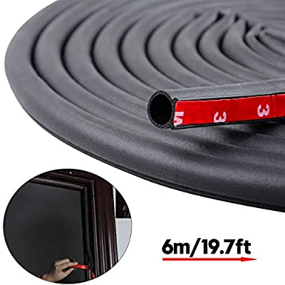 19.7 Feet Long Weather Stripping Seal Strip for Doors/Windows, Self-Adhesive Backing Seals Large Gap (from 5/16 inch to 35/64 inch) Soundproofing Seal Strip