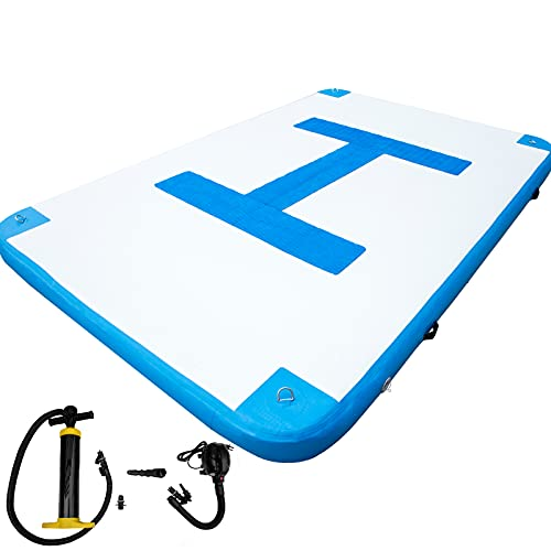 Happybuy Inflatable Floating Dock 10 x 6.5 ft, Inflatable Dock Platform with...
