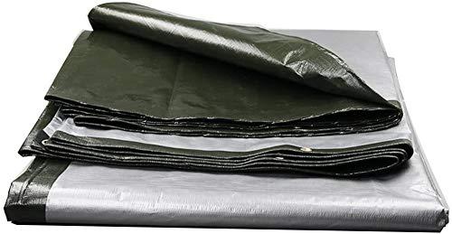 YUEDAI Thicken Tarpaulin Tarp Ground Sheet Covers Awning Tent Linoleum Heavy Duty Waterproof Rainproof Sun Shade Windproof Tear Resistance Reinforced Anti-aging, Multi Size