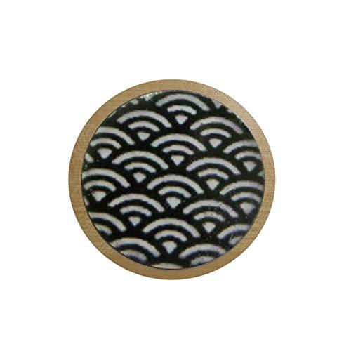 bab Patrón japonés - joyería japonesa - niños - niña - colgante blanco y negro - joyas para niños - Japón colgante caja de hielo pegatina, pegatina para nevera