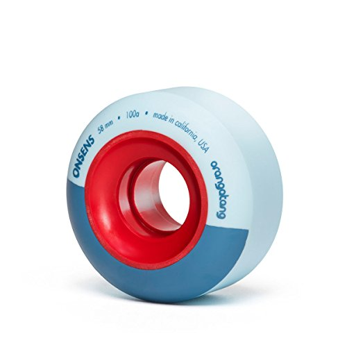 Orangatang Onsens 58 mm 100a Freestyle Park Skateboard Wheels (Blue, Set of 4)