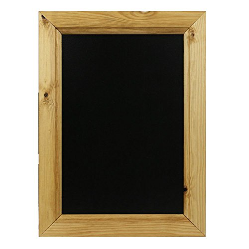 Chalkboards UK Pizarra enmarcada, madera, negro, A3, 450 x 325 mm