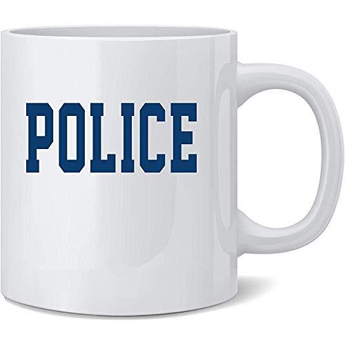 Oficial de primeros auxilios de la polica Disfraz de polica Taza de caf de cermica Taza de t