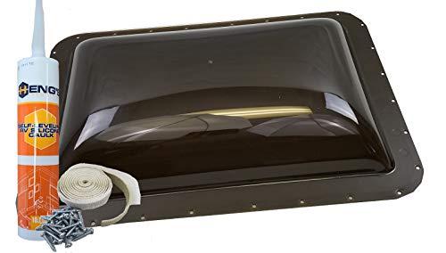 Class A Customs Premium Heavy Duty RV Camper Trailer Skylight - 18 x 26 OD / 14 x 22 ID Smoke - Install Kit PCS