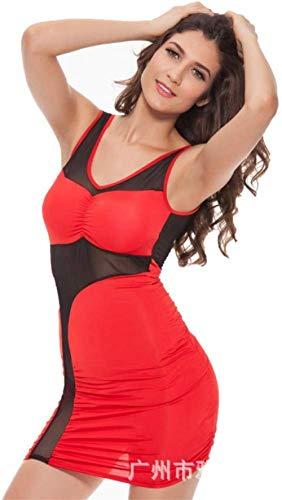 Erotische Kostüme für Damen Damen Dessous Sets Sexy Dessous Ice Silk Side Mesh Openwork Enge Größe Große Größe Damen Sexy Rock XXLL