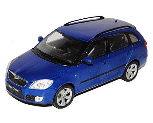 Welly Skoda Fabia 2 II Kombi Blau Typ 5J Ab 2007 1/24 Modell Auto mit individiuellem Wunschkennzeichen