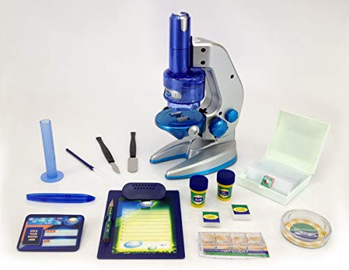 Amazing Microscope, Complete 32pc Deluxe Biology Science Set, 100x600x1000 Power