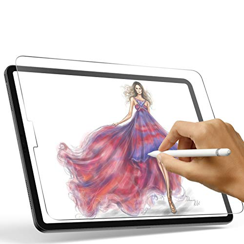 Paperfeel iPad Pro 12.9 Screen Protector (2020 and 2018 model), XIRON Paperfeel iPad pro 12.9 Matte PET Film for Drawing No Glare and Paper Texture, Compatible with Apple Pencil &Face ID