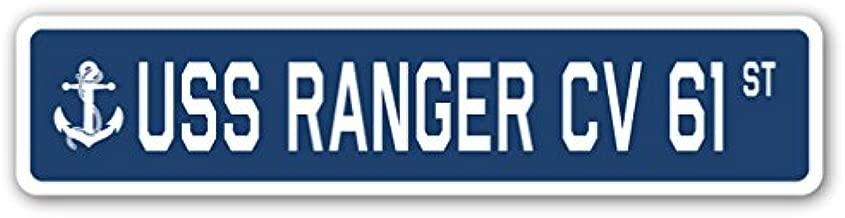 USS Ranger CV 61 Street Sign us Navy Ship Veteran Sailor Gift